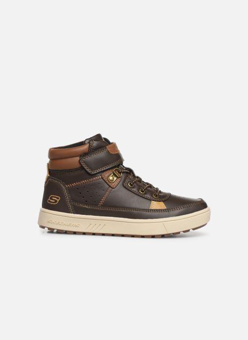 Chaussures à lacets Skechers Direct Pulse Marron vue derrière