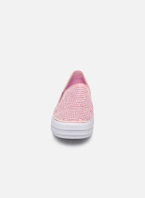 Baskets Skechers Double Up Shiny Dancer Rose vue portées chaussures