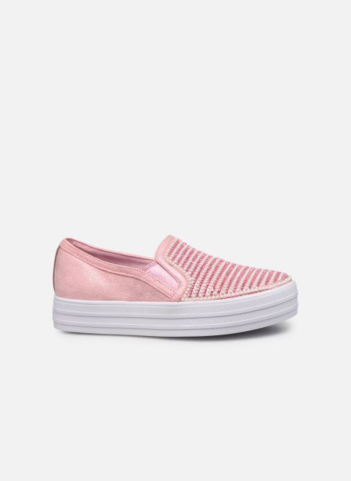 Trainers Skechers Double Up Shiny Dancer Pink back view