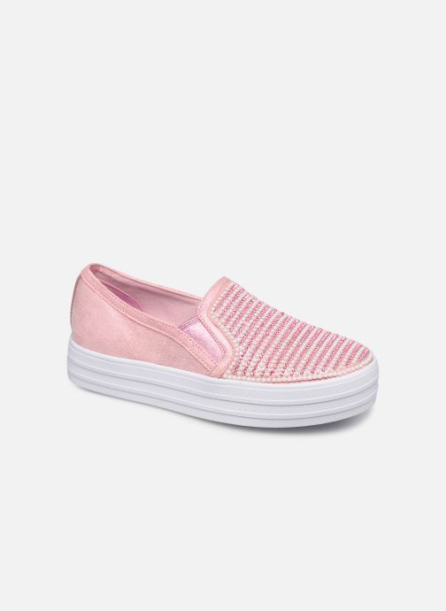 Trainers Skechers Double Up Shiny Dancer Pink detailed view/ Pair view
