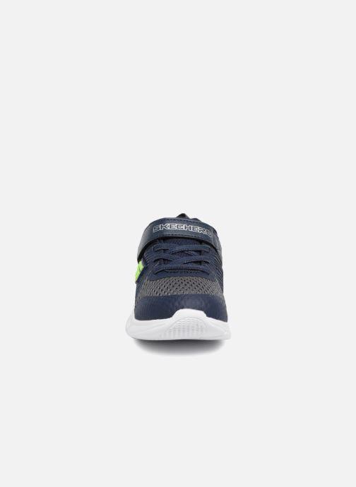 Chaussures de sport Skechers Comfy Flex Hyper Stride Bleu vue portées chaussures