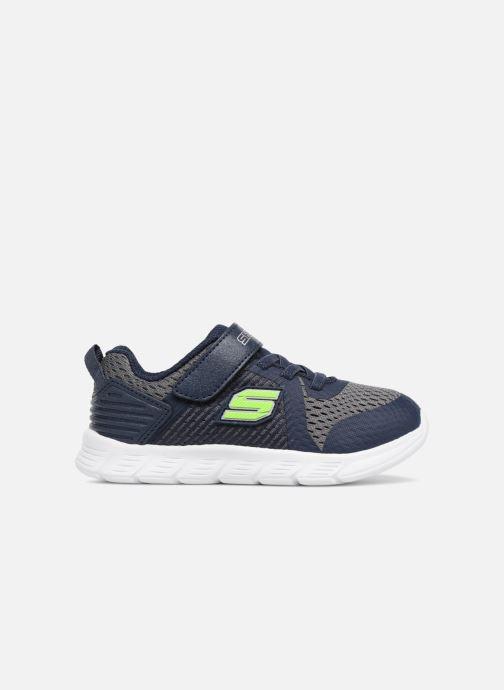 Sportschoenen Skechers Comfy Flex Hyper Stride Blauw achterkant