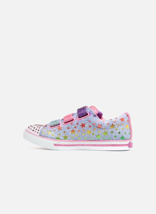 Baskets Skechers Sparkle Glitz Starry Party Bleu vue face