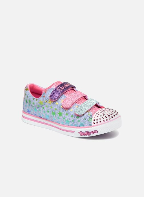 Baskets Skechers Sparkle Glitz Starry Party Bleu vue détail/paire
