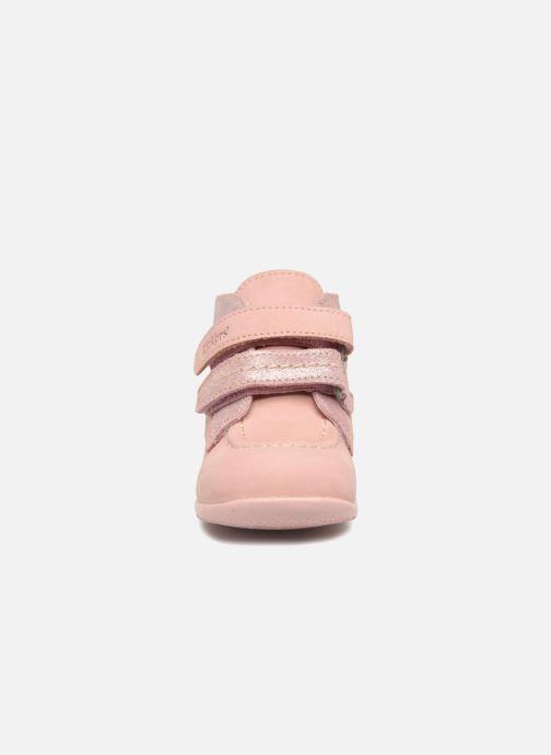 Stivaletti e tronchetti Kickers Bonkro Rosa modello indossato