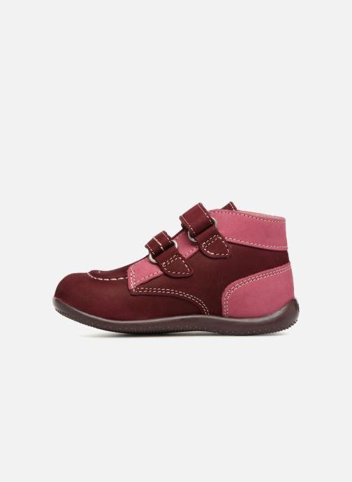 Bottines et boots Kickers Bonkro Bordeaux vue face