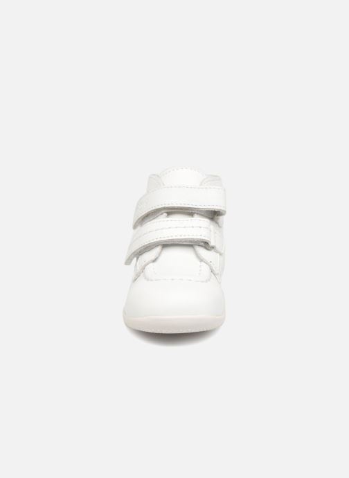 Stivaletti e tronchetti Kickers Bonkro Bianco modello indossato