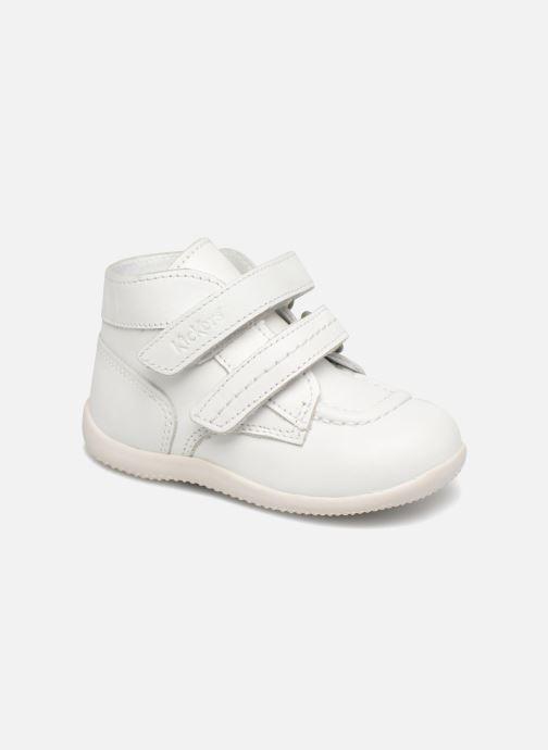 Bottines et boots Kickers Bonkro Blanc vue détail/paire