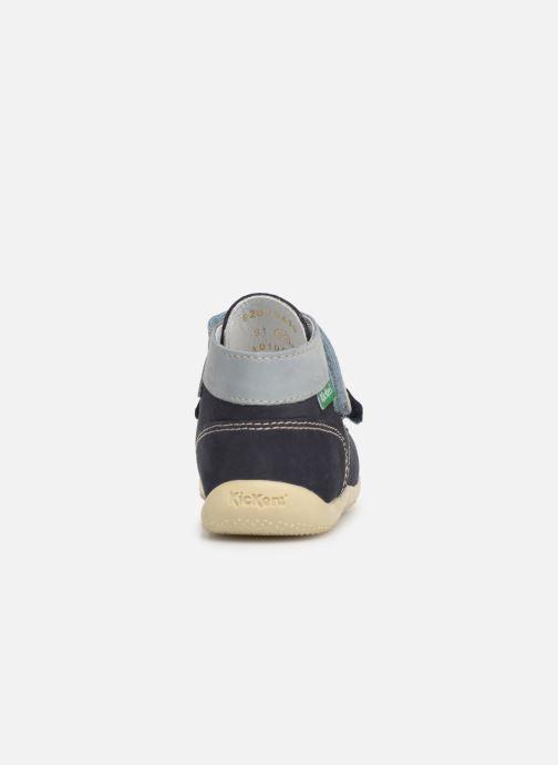 Stiefeletten & Boots Kickers Bonkro blau ansicht von rechts