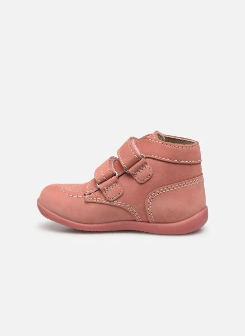 Bottines et boots Kickers Bonkro Rose vue face