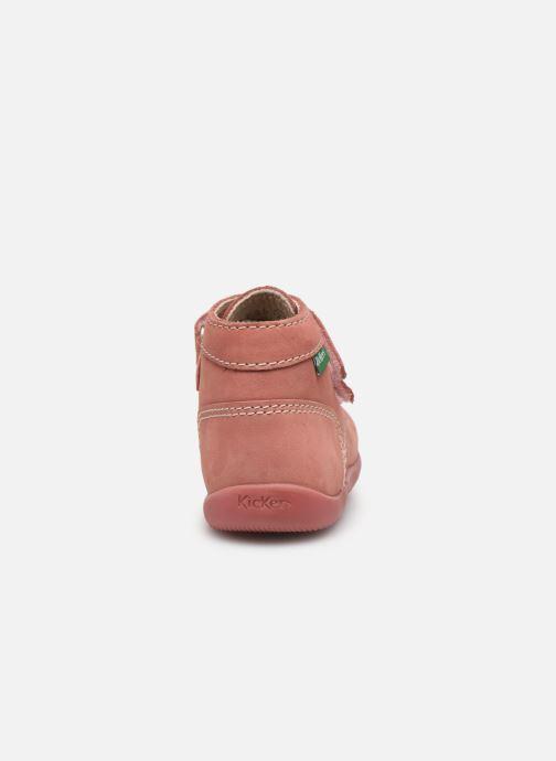 Bottines et boots Kickers Bonkro Rose vue droite