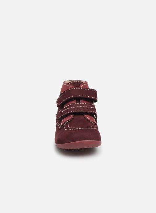 Bottines et boots Kickers Bonkro Violet vue portées chaussures