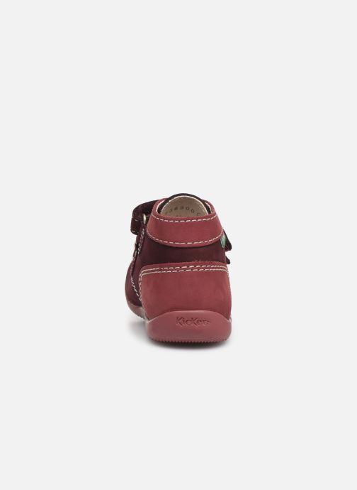Bottines et boots Kickers Bonkro Violet vue droite