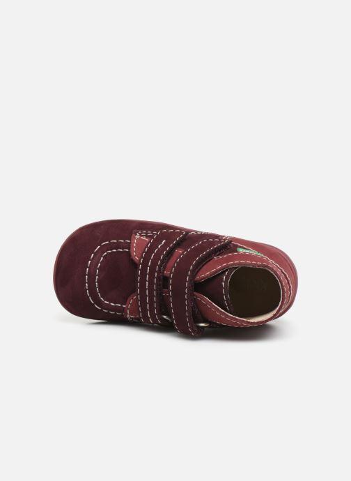 Bottines et boots Kickers Bonkro Violet vue gauche