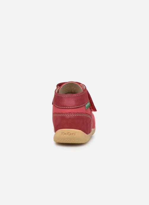 Ankelstøvler Kickers Bonkro Pink Se fra højre