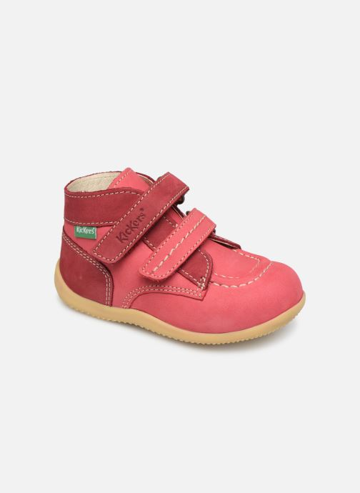 Bottines et boots Kickers Bonkro Rose vue détail/paire
