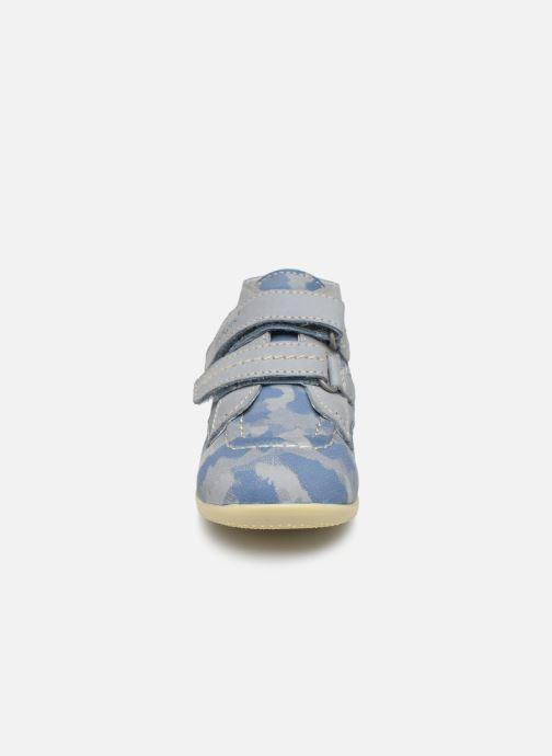 Stivaletti e tronchetti Kickers Bonkro Azzurro modello indossato
