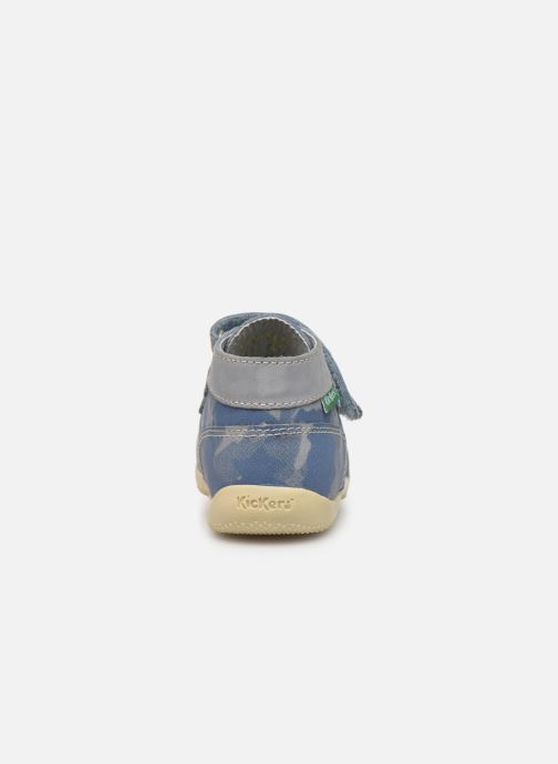 Bottines et boots Kickers Bonkro Bleu vue droite
