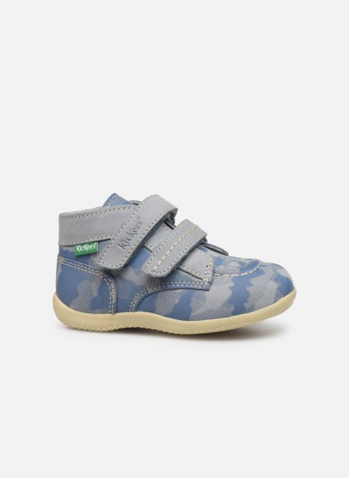 Bottines et boots Kickers Bonkro Bleu vue derrière