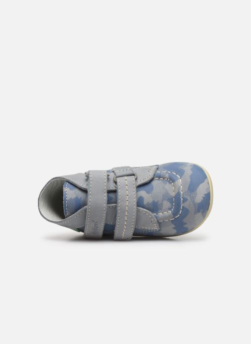 Bottines et boots Kickers Bonkro Bleu vue gauche