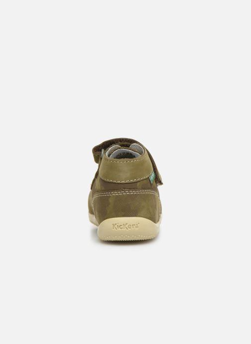Boots en enkellaarsjes Kickers Bonkro Groen rechts