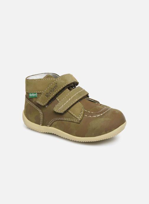 Bottines et boots Kickers Bonkro Vert vue détail/paire