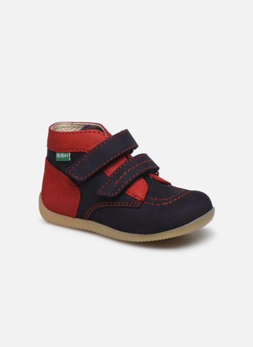 Bottines et boots Kickers Bonkro Bleu vue détail/paire