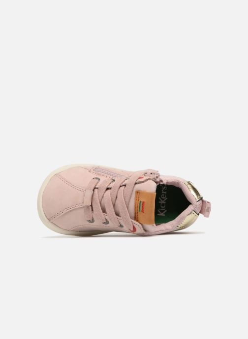 Sneakers Kickers Chicago Bb Rosa immagine sinistra