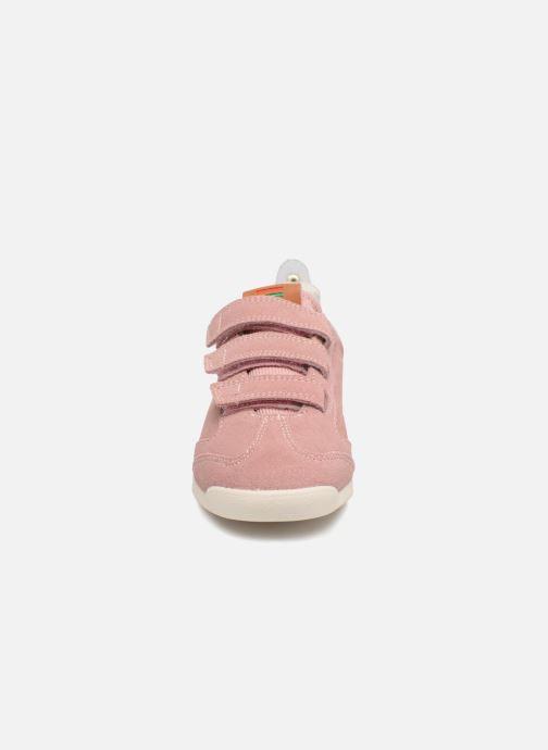 Sneakers Kickers Kick 18 Cdt Rosa modello indossato