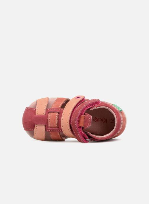 Sandali e scarpe aperte Kickers Babychan Rosa immagine sinistra