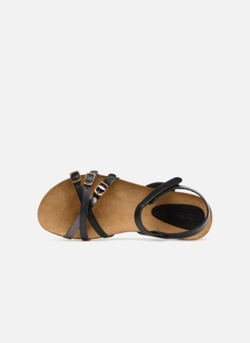 Sandalen Kickers Bonavista Zwart links