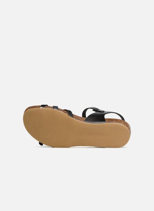 Sandales et nu-pieds Kickers Bonavista Noir vue haut