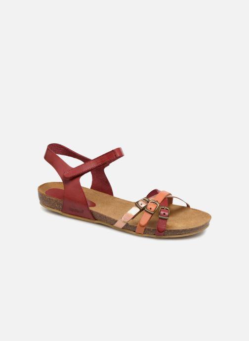 Sandaler Kickers Bonavista Rød detaljeret billede af skoene