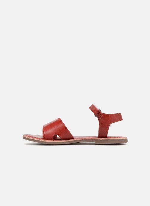 Sandales et nu-pieds Kickers Diese Rouge vue face