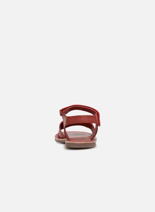 Sandales et nu-pieds Kickers Diese Rouge vue droite