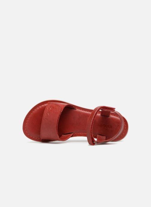 Sandales et nu-pieds Kickers Diese Rouge vue gauche