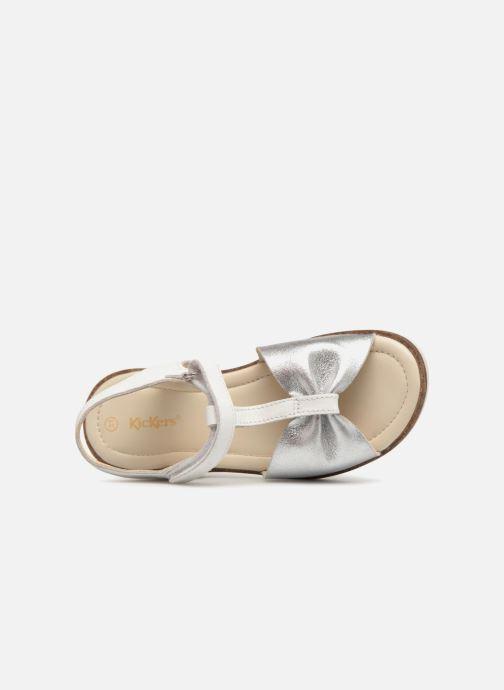 Sandali e scarpe aperte Kickers Giucy Argento immagine sinistra