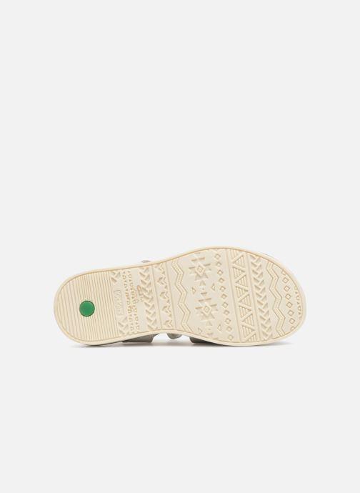 Sandales et nu-pieds Kickers Giucy Argent vue haut