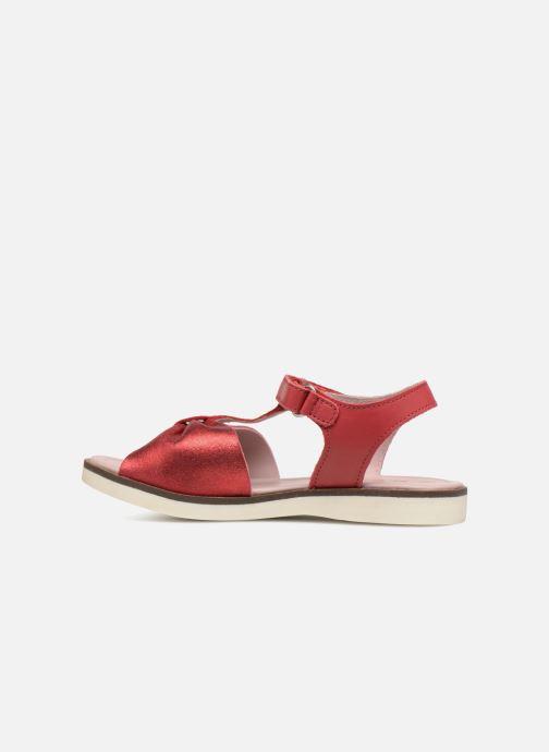 Sandales et nu-pieds Kickers Giucy Rouge vue face