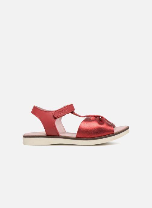 Sandales et nu-pieds Kickers Giucy Rouge vue derrière