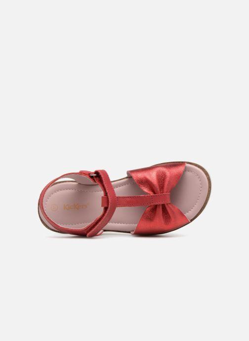 Sandales et nu-pieds Kickers Giucy Rouge vue gauche
