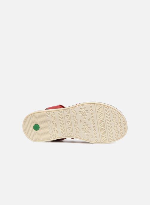 Sandales et nu-pieds Kickers Giucy Rouge vue haut
