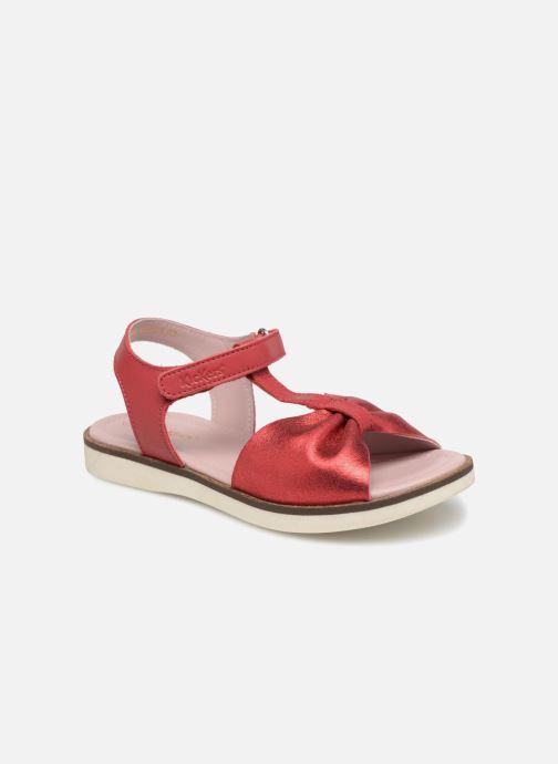 Sandales et nu-pieds Kickers Giucy Rouge vue détail/paire