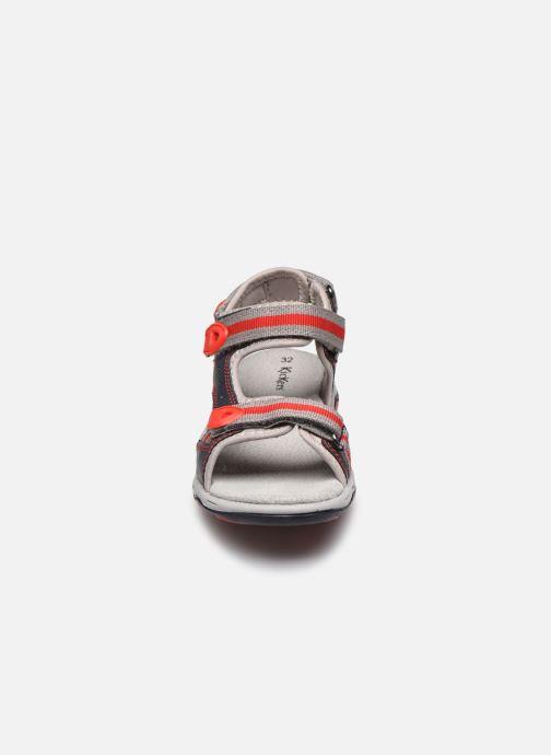 Sandales et nu-pieds Kickers Kiwi Bleu vue portées chaussures