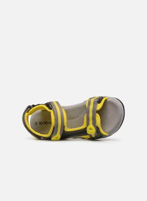 Sandales et nu-pieds Kickers Kiwi Noir vue gauche