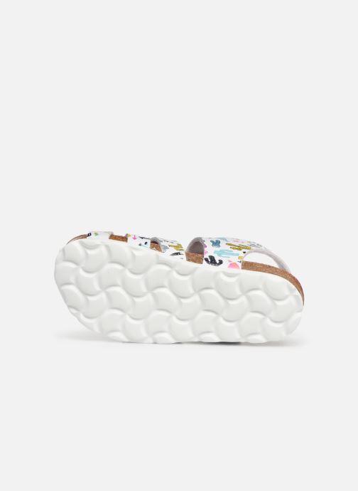 Sandales et nu-pieds Kickers Summertan Blanc vue haut