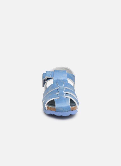 Sandalen Kickers Summertan blau schuhe getragen