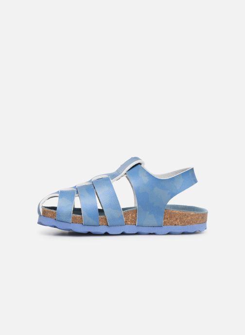 Sandalen Kickers Summertan blau ansicht von vorne