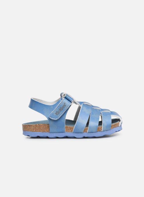 Sandalen Kickers Summertan blau ansicht von hinten