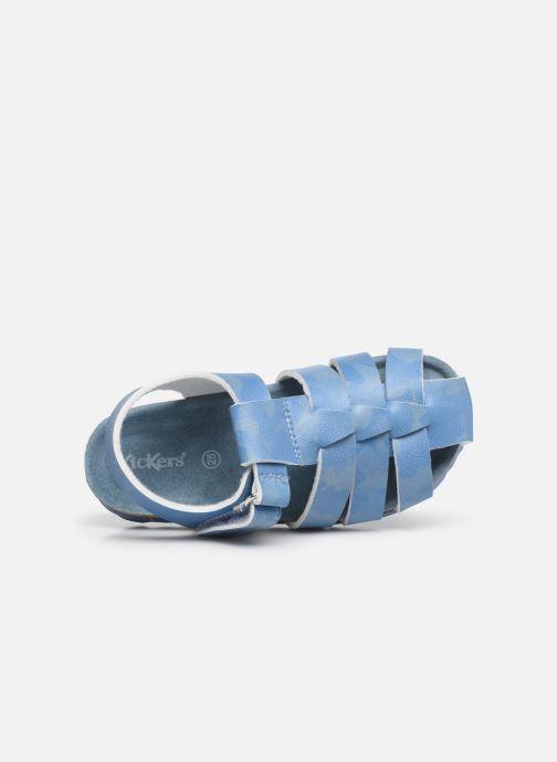 Sandalen Kickers Summertan blau ansicht von links